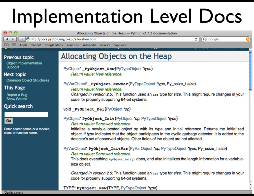 Implementation Level Docs