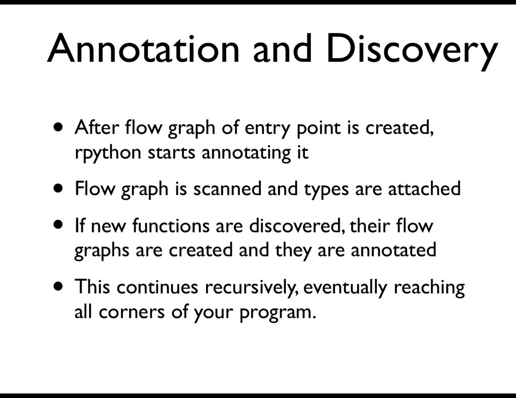 Annotation and Discovery • After flow graph of e...
