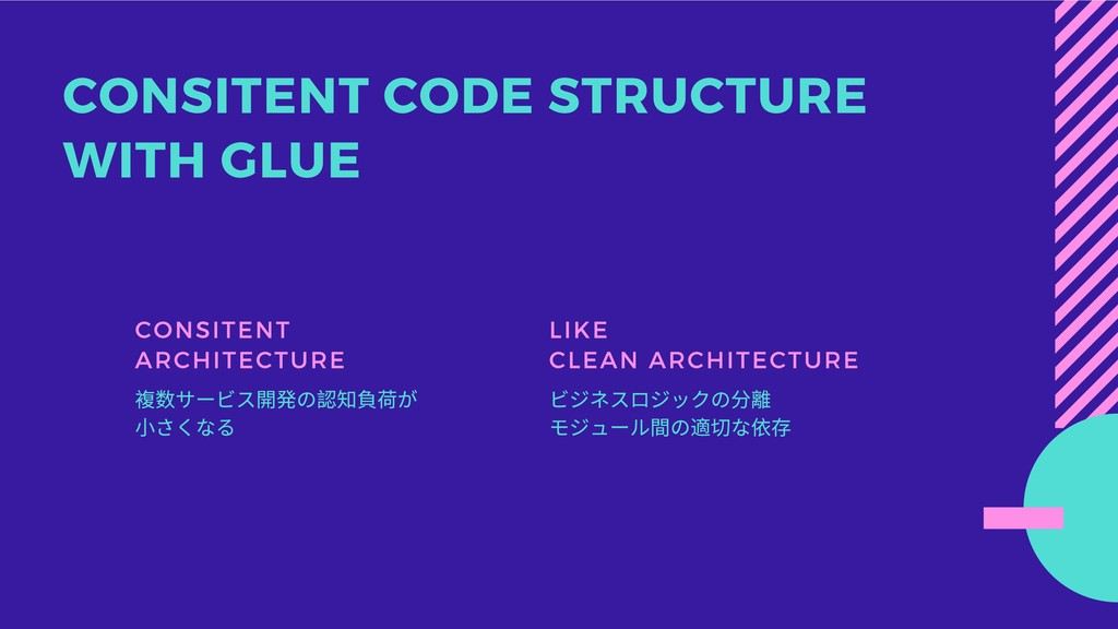 CONSITENT CODE STRUCTURE WITH GLUE CONSITENT AR...