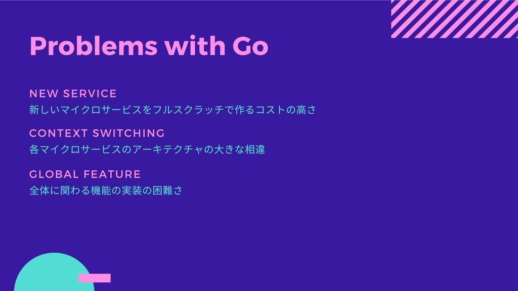 Problems with Go NEW SERVICE 新しいマイクロサービスをフルスクラッ...