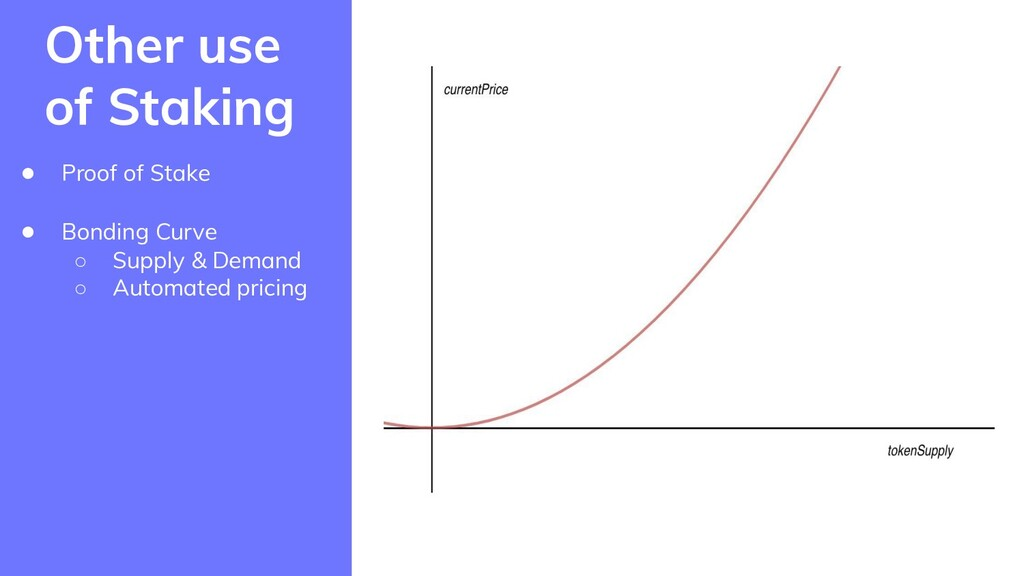 ● Proof of Stake ● Bonding Curve ○ Supply & Dem...