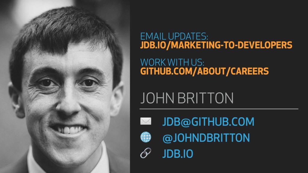 ✉ JDB@GITHUB.COM  @JOHNDBRITTON  JDB.IO JOHN BR...