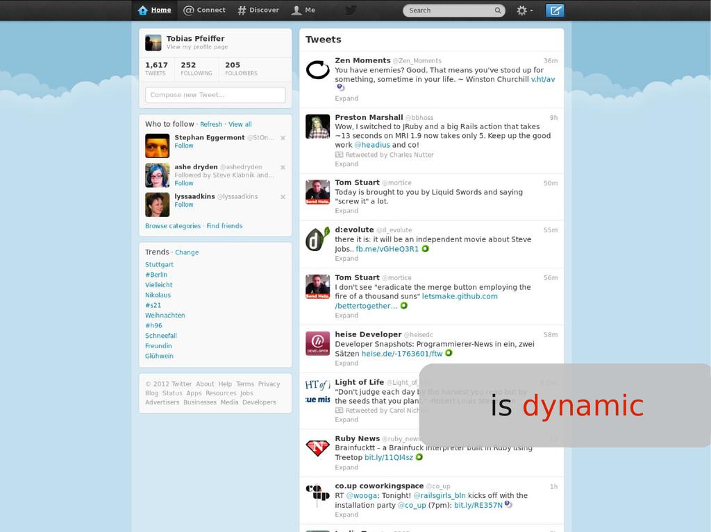 is dynamic