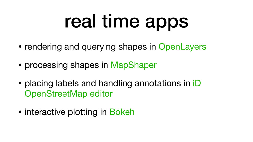 • rendering and querying shapes in OpenLayers  ...
