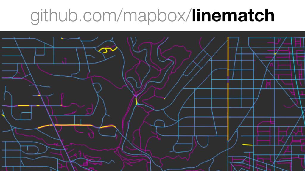 github.com/mapbox/linematch