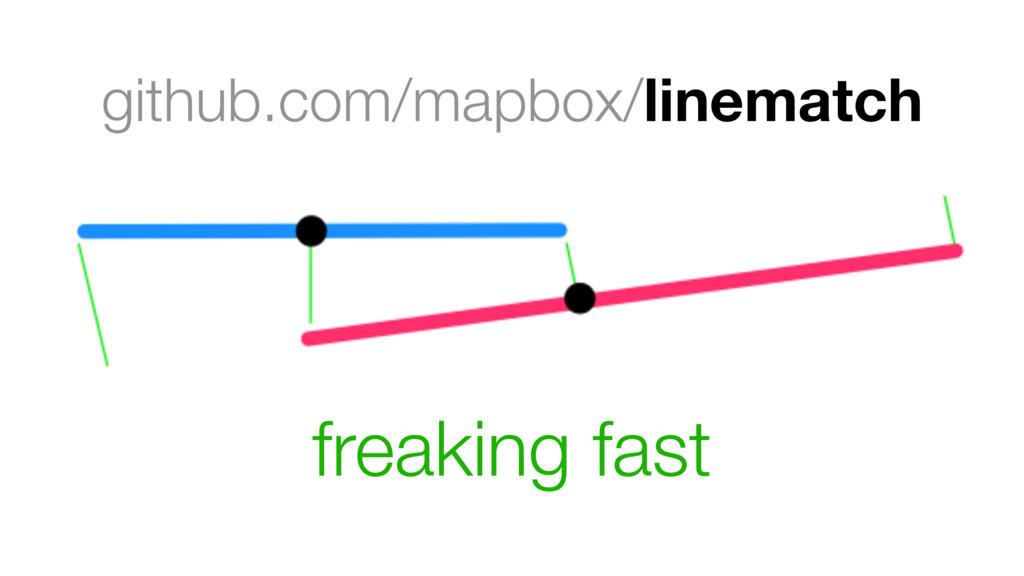 github.com/mapbox/linematch freaking fast