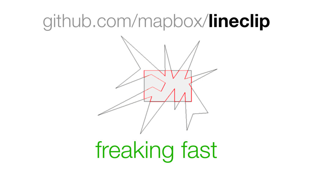 github.com/mapbox/lineclip freaking fast