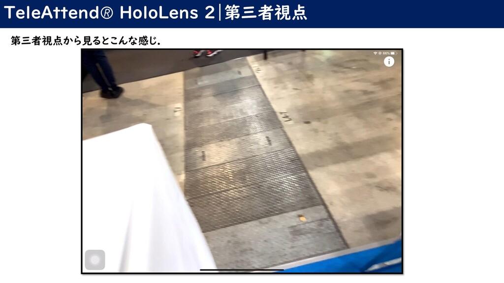 TeleAttend HoloLens 2|第三者視点 第三者視点から見るとこんな感じ.