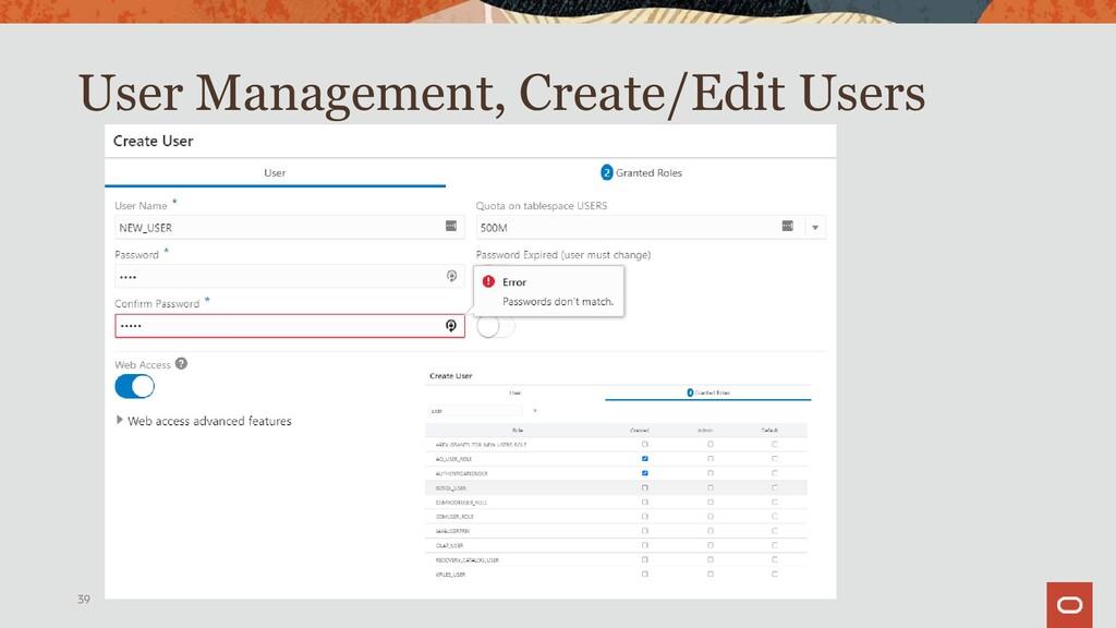 User Management 39
