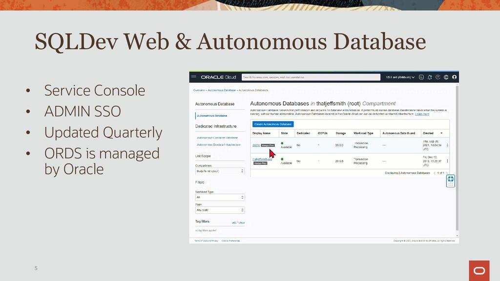 Accessing SQL Developer Web from Autonomous • C...