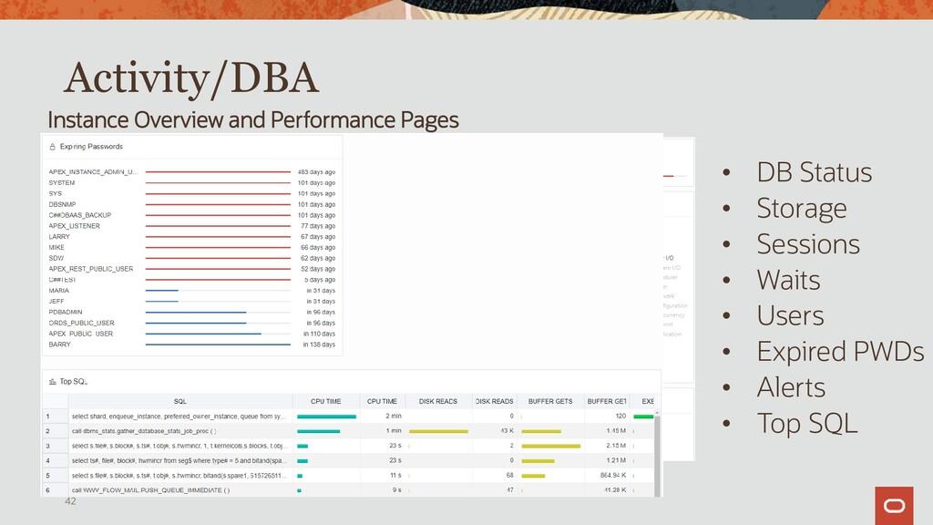 Instance Viewer, Memory/Storage 42