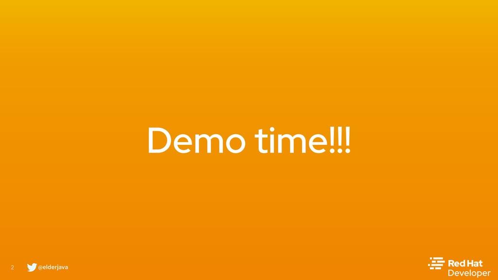 @elderjava 2 Demo time!!!