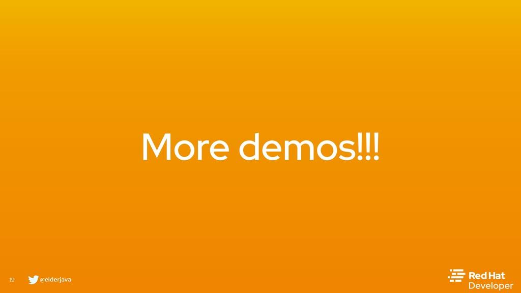 @elderjava 19 More demos!!!