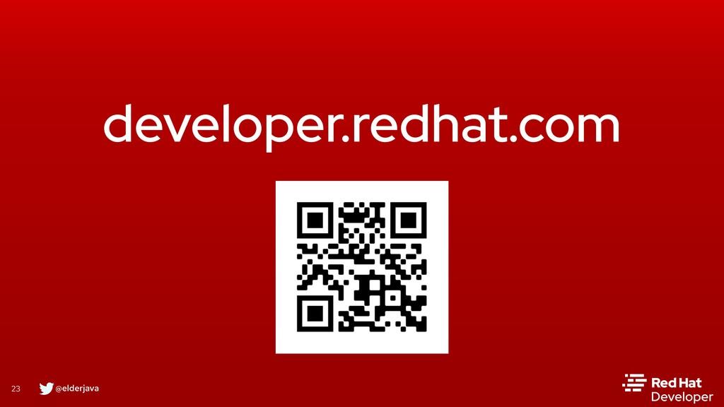 @elderjava 23 developer.redhat.com