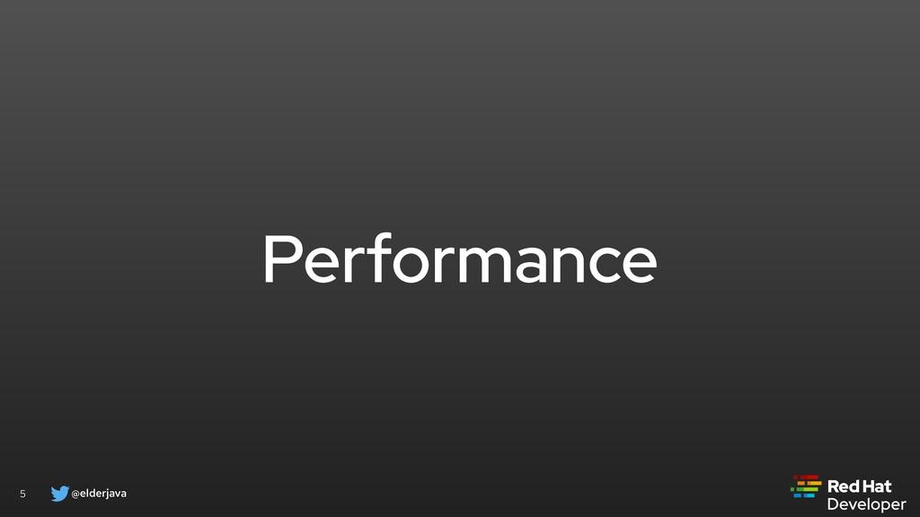 @elderjava 5 Performance