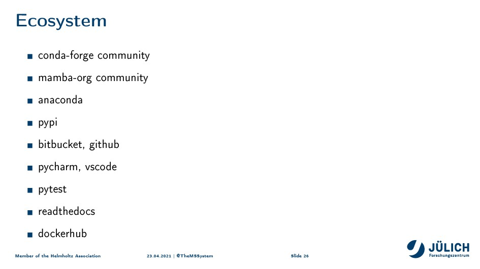 i™osystem conda-forge community mamba-org commu...