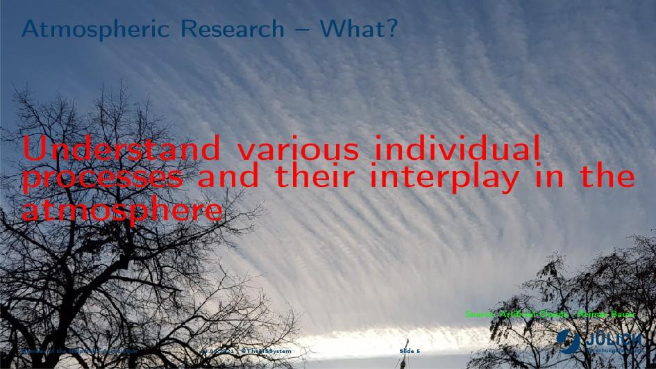 etmospheri™ 'ese—r™h ! ‡h—tc Understand various...