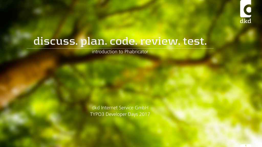 discuss. plan. code. review. test. introduction...
