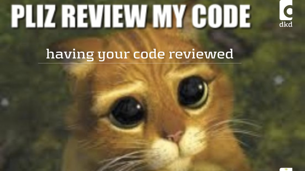 having your code reviewed 19