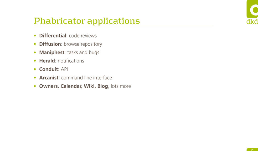 Phabricator applications • Differential: code r...