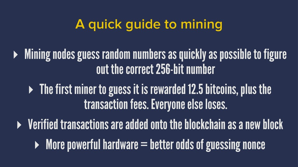 A quick guide to mining ▸ Mining nodes guess ra...