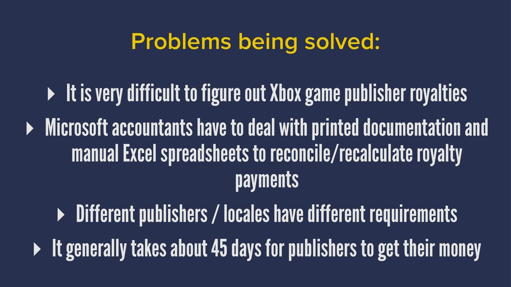 Problems being solved: ▸ It is very difficult t...