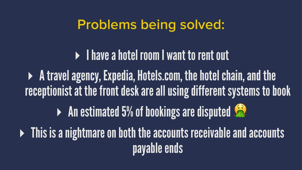 Problems being solved: ▸ I have a hotel room I ...