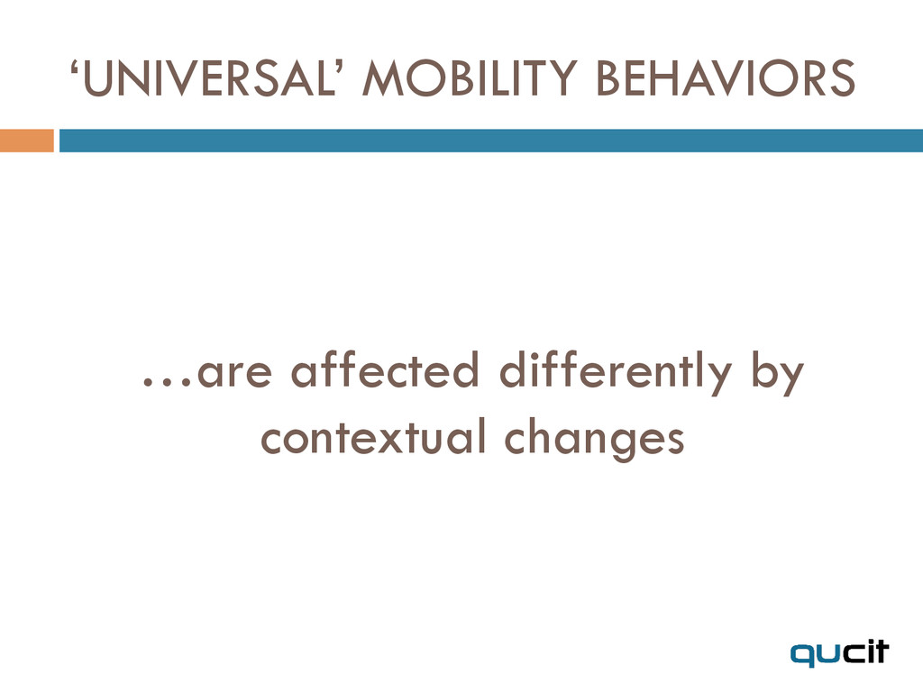 …are affected differently by contextual changes...