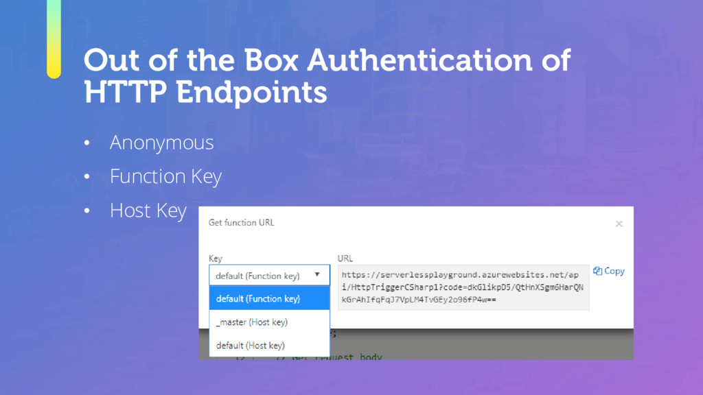 Out of the Box Authentication of HTTP Endpoints...