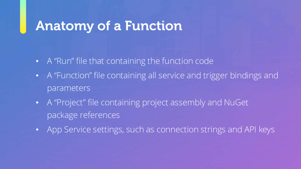 """Anatomy of a Function • A """"Run"""" file that conta..."""