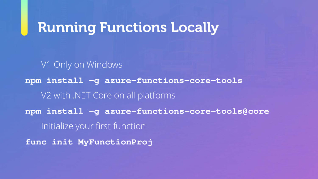 Running Functions Locally V1 Only on Windows np...