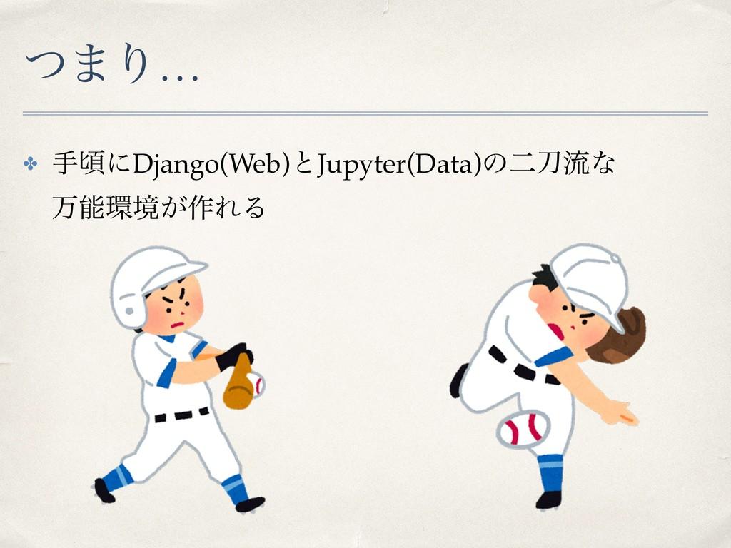 ͭ·Γ… ✤ खࠒʹDjango(Web)ͱJupyter(Data)ͷೋྲྀͳ ສڥ͕...