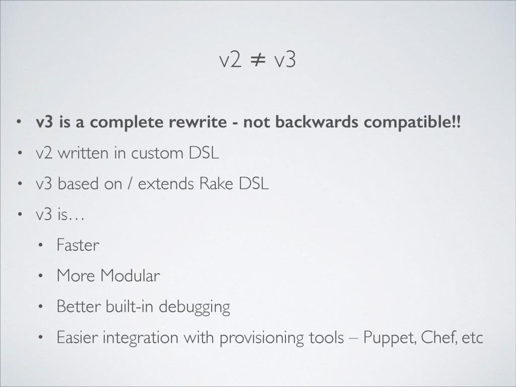 v2 ≠ v3 • v3 is a complete rewrite - not backwa...