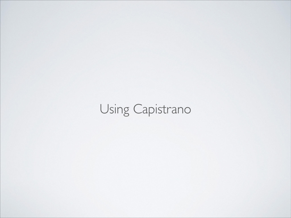 Using Capistrano