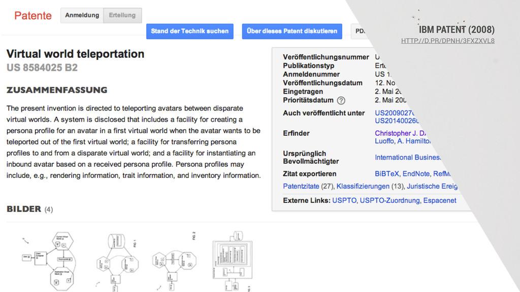 IBM PATENT (2008) HTTP://D.PR/DPNH/3FXZXVL8