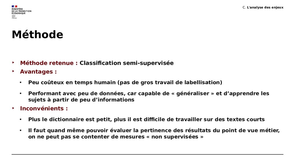 Méthode ‣ Méthode retenue : Classification semi...