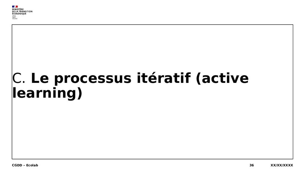 C. Le processus itératif (active learning) XX/X...