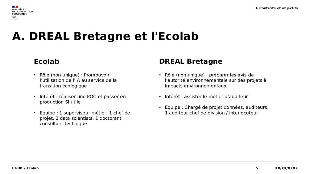 A. DREAL Bretagne et l'Ecolab XX/XX/XXXX CGDD –...