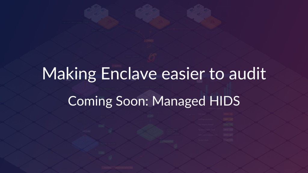 Making Enclave easier to audit Coming Soon: Man...