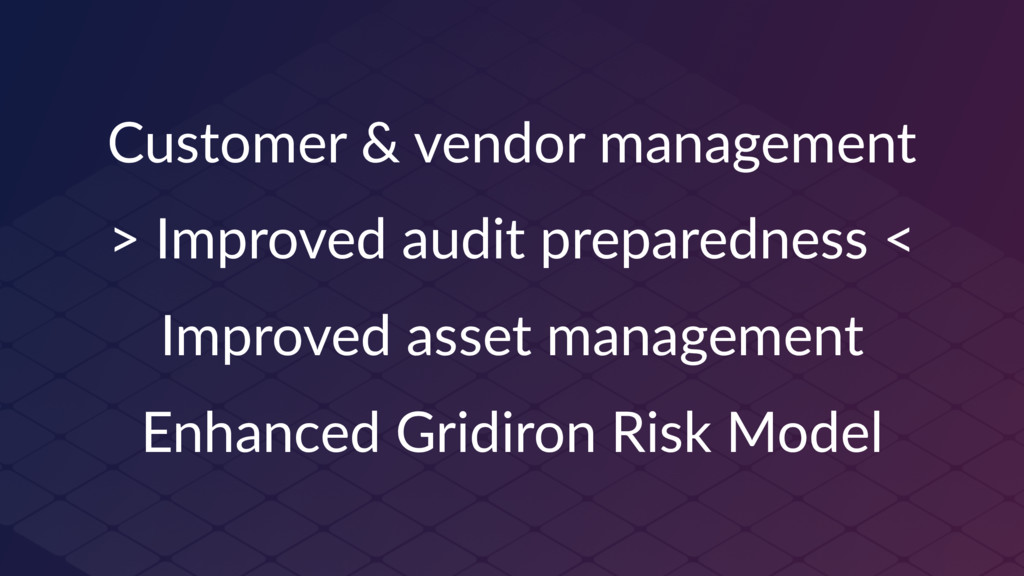 Customer & vendor management > Improved audit p...