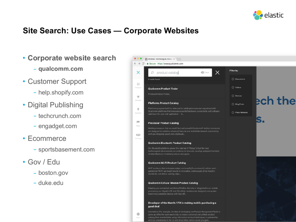 Site Search: Use Cases — Corporate Websites • C...