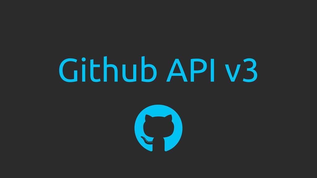 Github API v3