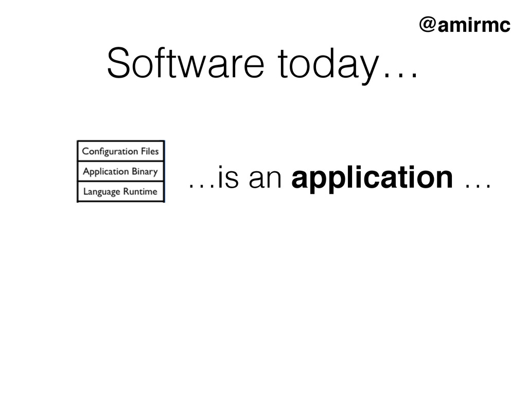 Software today… …is an application … @amirmc