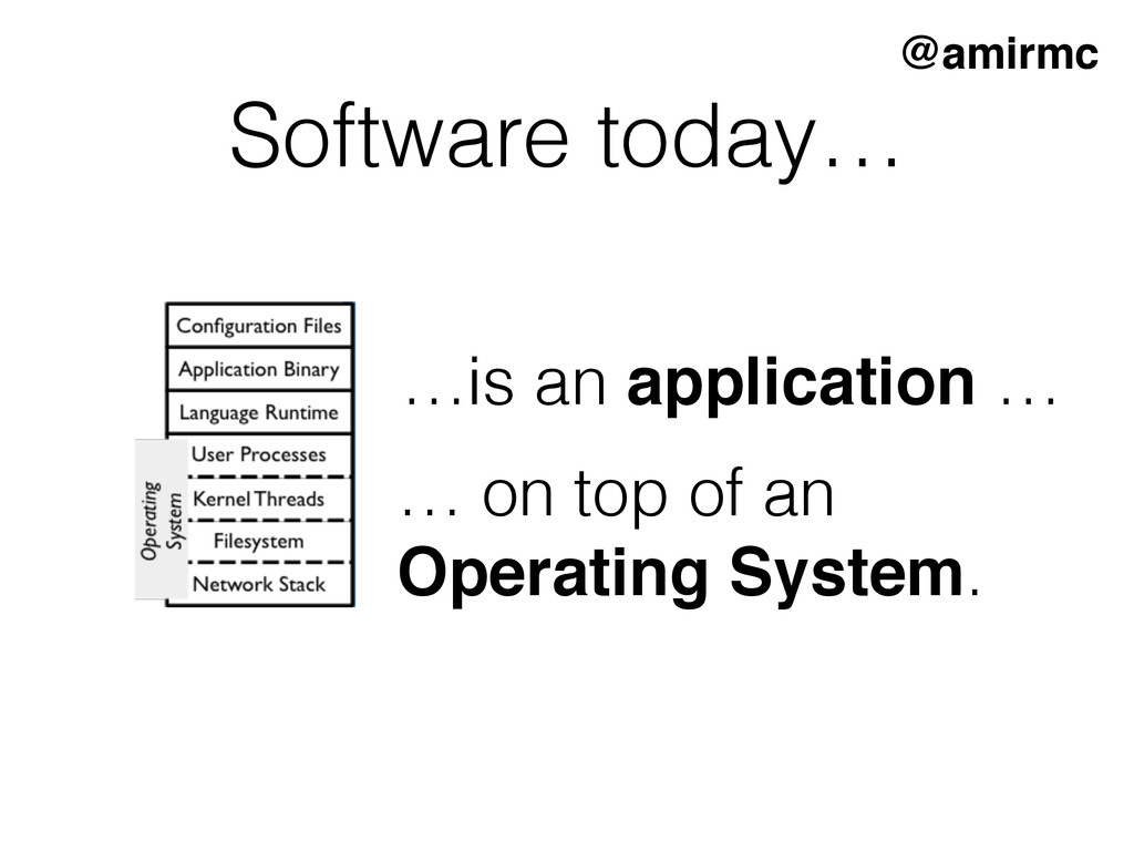 Software today… …is an application … … on top o...