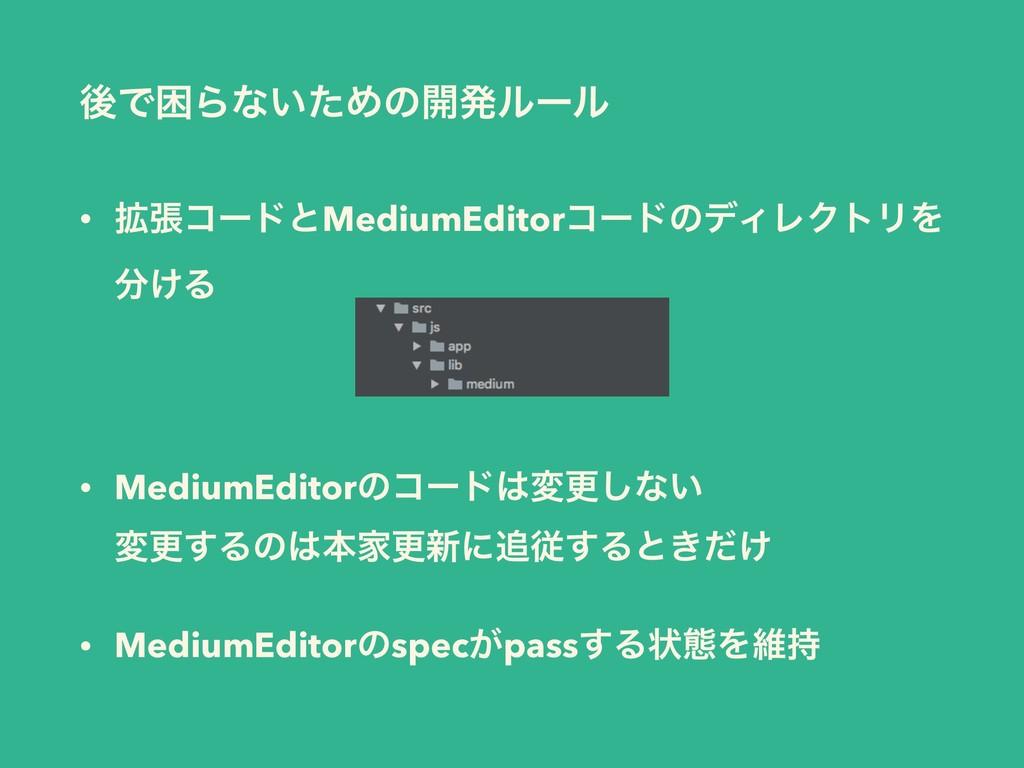 • ֦ுίʔυͱMediumEditorίʔυͷσΟϨΫτϦΛ ͚Δ  • Medium...