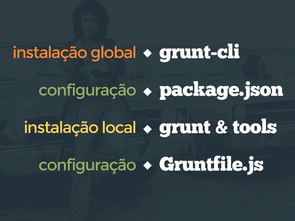 grunt-cli instalação global instalação local co...