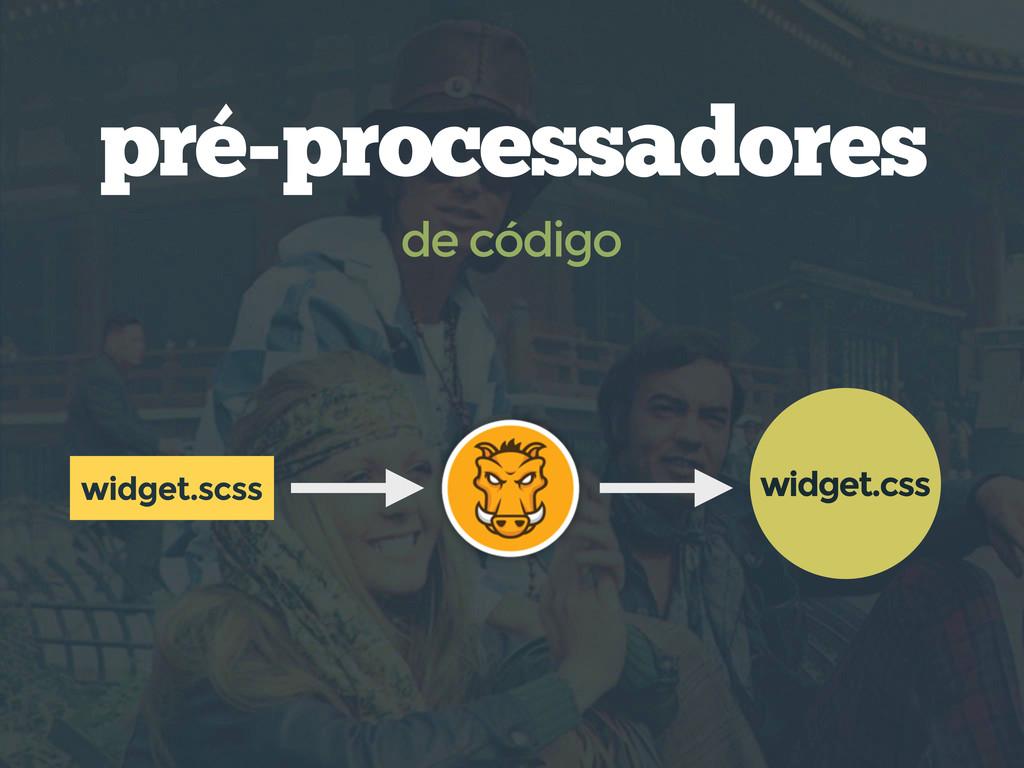 pré-processadores de código widget.scss widget....