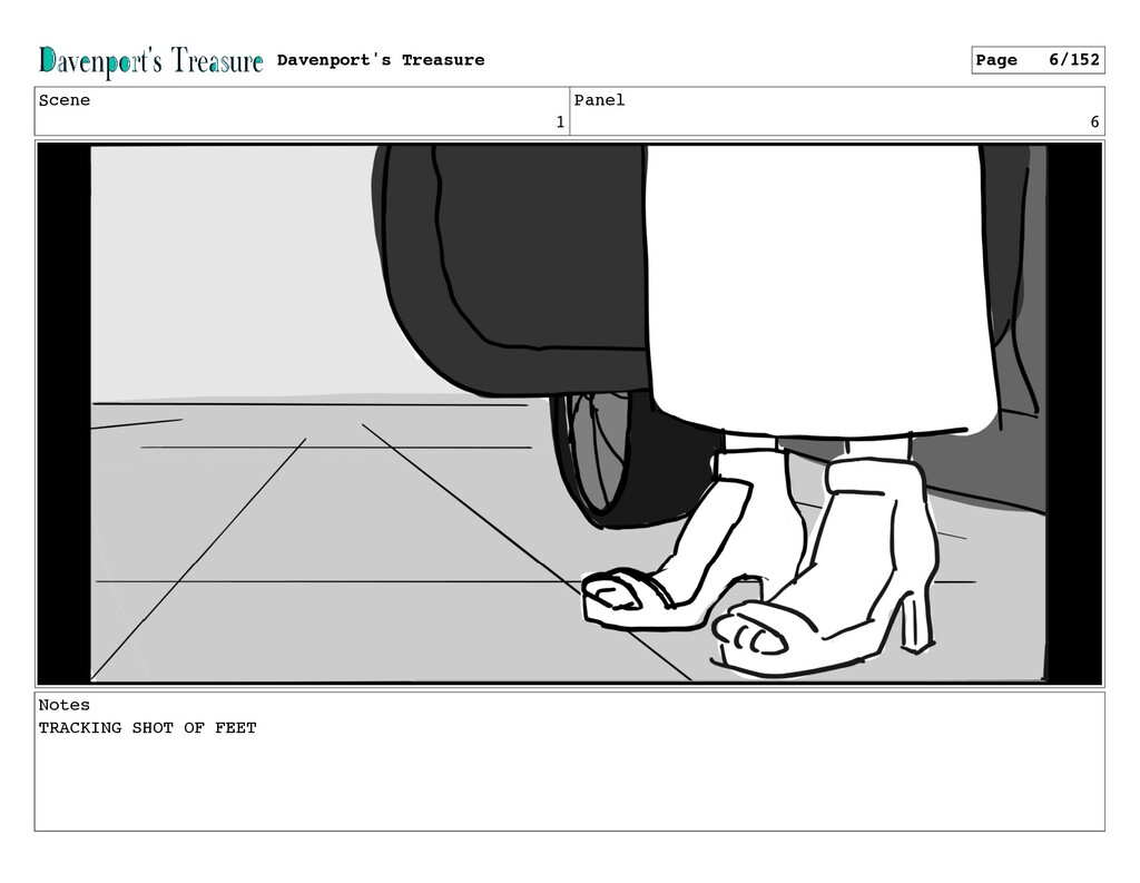 Scene 1 Panel 6 Notes TRACKING SHOT OF FEET Dav...