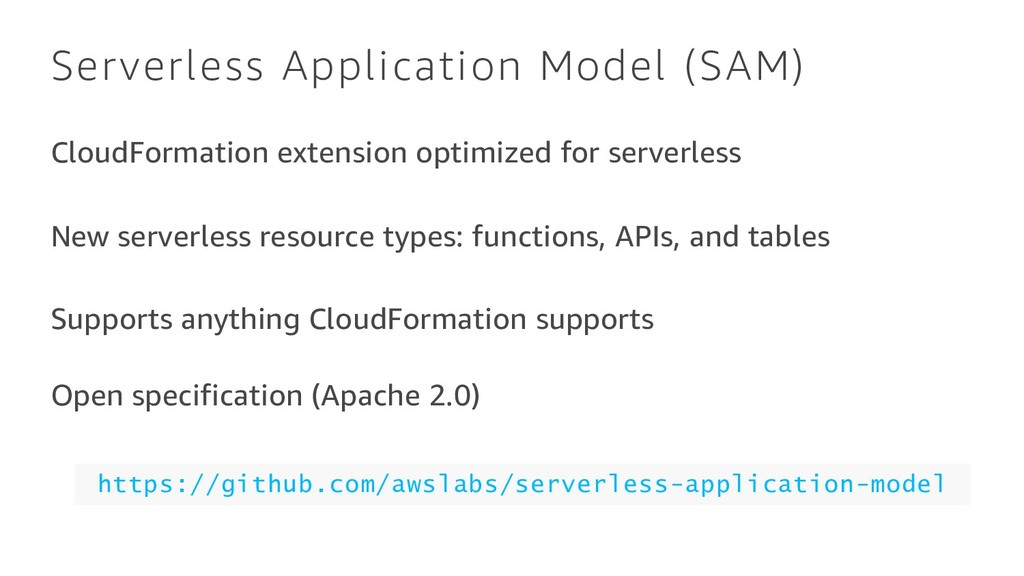 Serverless Application Model (SAM) CloudFormati...