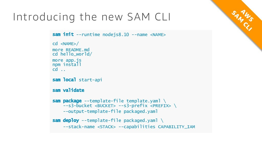 Introducing the new SAM CLI sam init --runtime ...